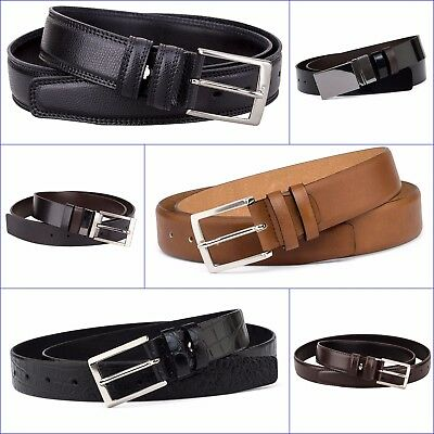 Mens Formal Belts 100% Italian Leather Belt for Men Dress Work .