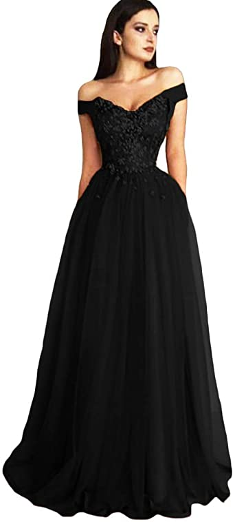 Dymaisei Prom Dresses Long Lace Appliques Formal Evening Gown Off .
