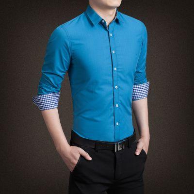 2017 New Spring autumn men casuall shirts mens shirt fashion .