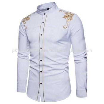 Stylish Mens Casual Formal Shirts Slim Fit Shirt Top Long Sleeve .