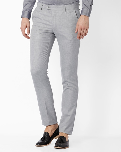 Buy Grey Trousers & Pants for Men by black-coffee Online | Ajio.c
