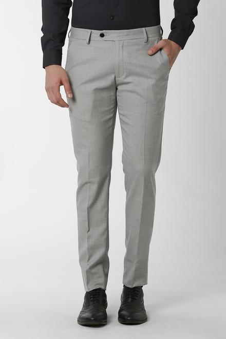 Peter England Trousers & Chinos, Peter England Grey Formal .