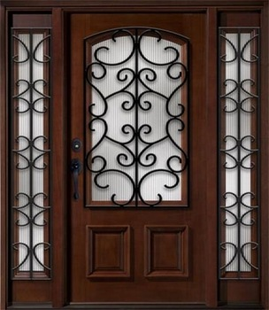 Wrought Iron Wooden French Doors Design With Half Lite Glass - Buy .