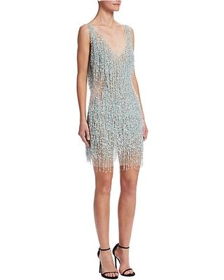 beaded fringe cocktail dress – Fashion dress