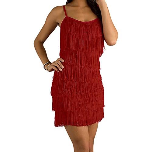 Red Fringe Dress: Amazon.c