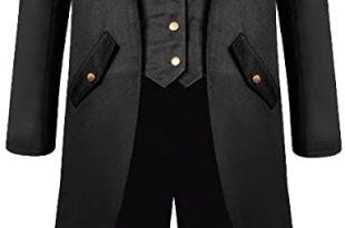 Amazon.com: H&ZY Men's Steampunk Vintage Tailcoat Jacket Gothic .