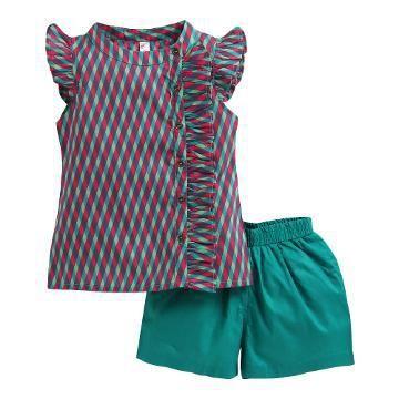 Red Top And Short Set | Ropa para niñas, Vestidos para niñas, Moda .