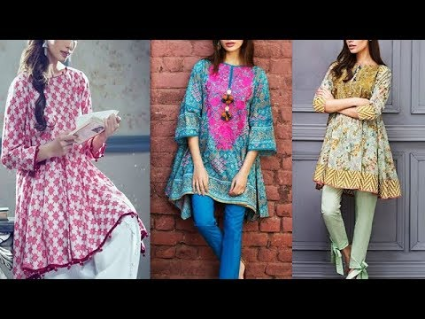 Latest Trend Of frock Style Kurti Designs - YouTu