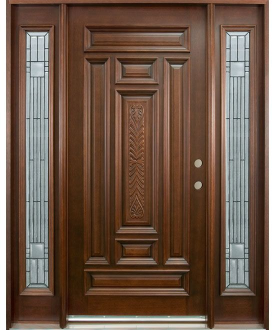 doors | Hand Carved Collection Solid Wood Entry Door (With images .