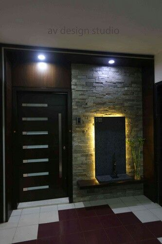 Panelling (With images) | Foyer design, Entrance door design, Door .