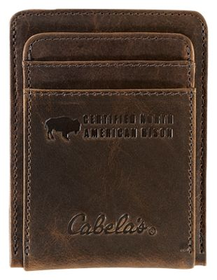 Cabela's American Bison Leather Front Pocket Wallet | Bass Pro Sho