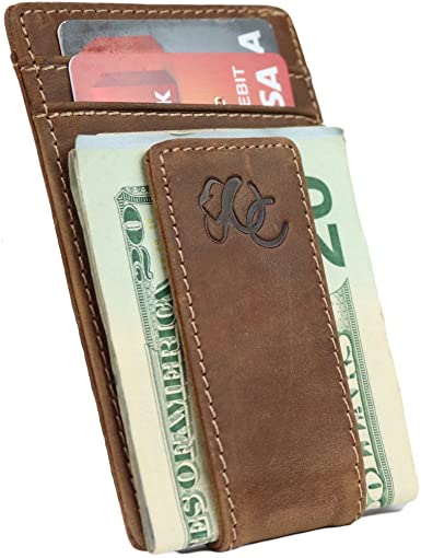 Mens Front Pocket Wallet with Money Clip by Urban Cowboy – Genuine .