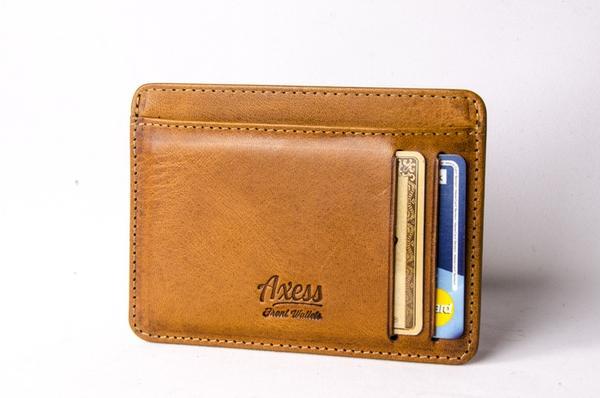 Axess: Italian Leather Front Pocket Wallets - Slim Wallet Junk