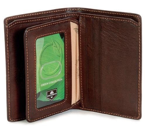 Tony Perotti Mens Italian Cow Leather Front Pocket Vertical .