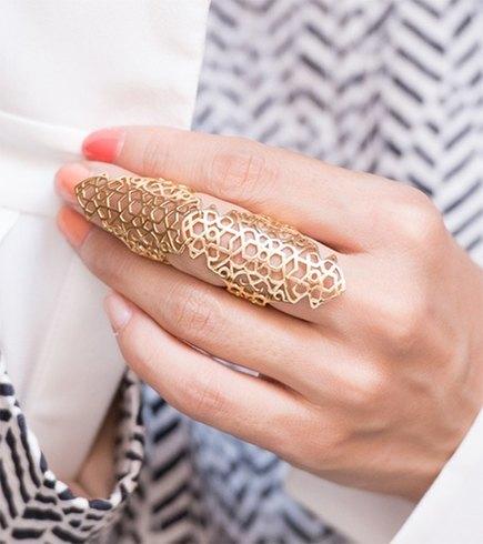 29 Full Finger Ring Design Jewelry - Victoria's Glamo