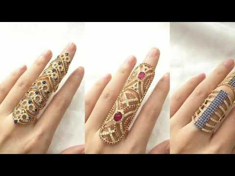 Beautiful full finger Gold ring designs /Gold ring designs for .