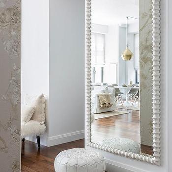 White Full Length Living Room Wall Mirror Design Ide