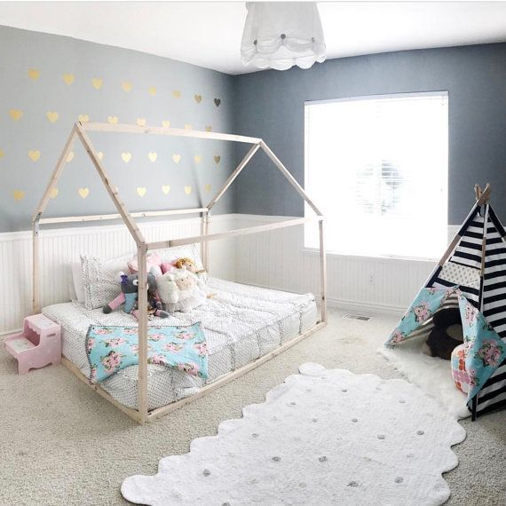 Toddler House Bed FULL Size Wood Bed Nursery Full by rubyrye (With .