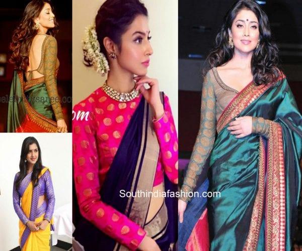 7 Stunning Full Sleeves Blouse Designs – South India Fashi