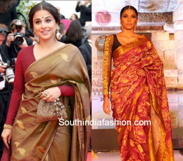 10 Trendy Blouse Designs for Kanjeevaram Sarees (With images .