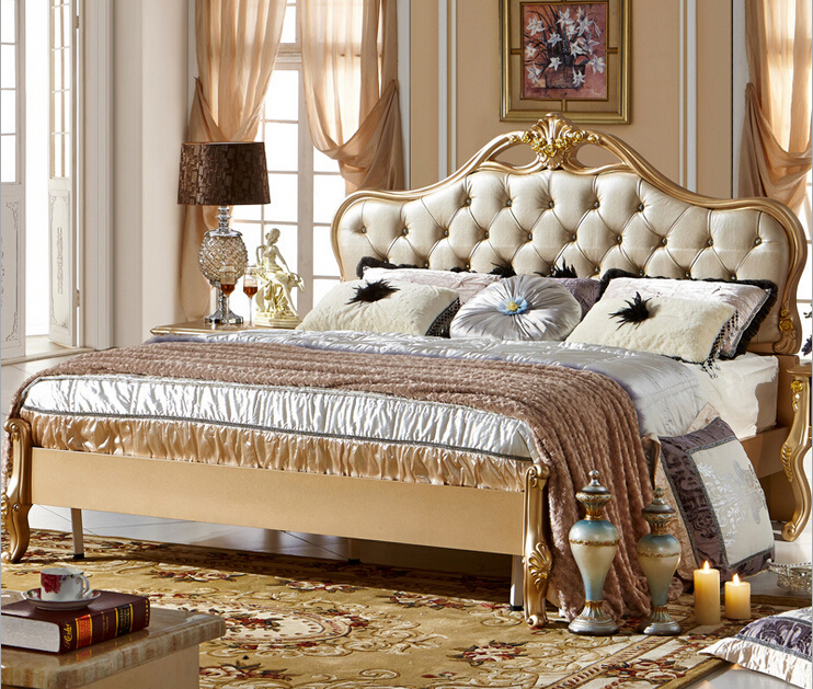 Latest Furniture Bedroom Designs, New Classical Design Bed 0409 .