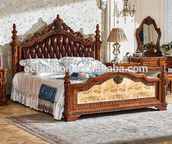 Luxury antique royal Furniture Wooden Double Bed Designs, View .