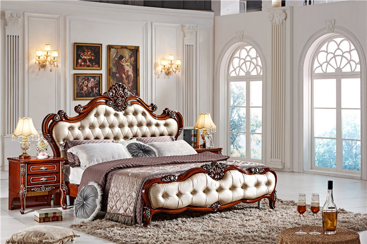 Fashion bedroom set / italian bedroom furniture set / classic wood .