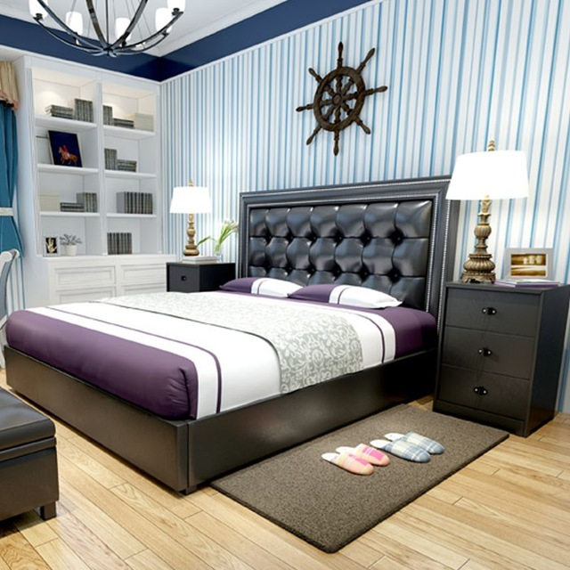 modern design soft bed bedroom furniture bed ,bedside,mattress .