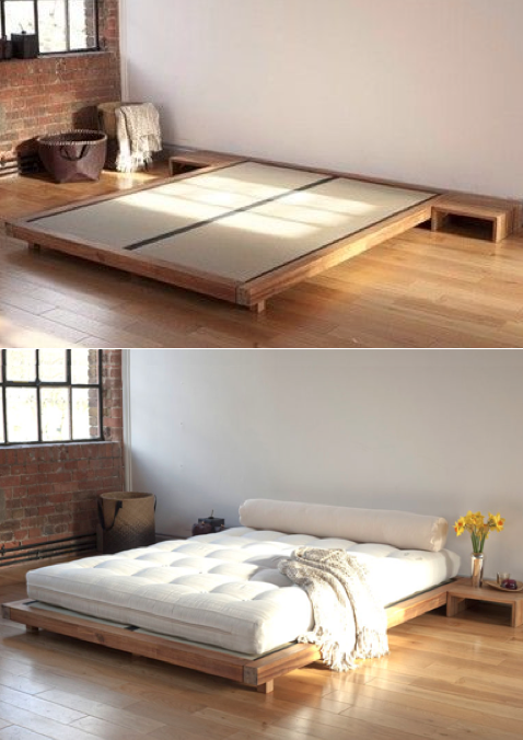 Tatami bed … … | Modern minimalist bedroom, Bed design, Bed .