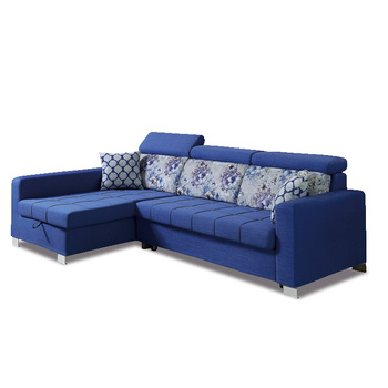 Trendy And Practical Sectional Blue Corner Sofa Come Bed Design .