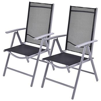 Outdoor 7 Position Lightweight Aluminium Folding Garden Chairs .