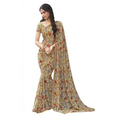 Multicolor Printed Georgette Saree, Rs 700 /piece Trends Wear .