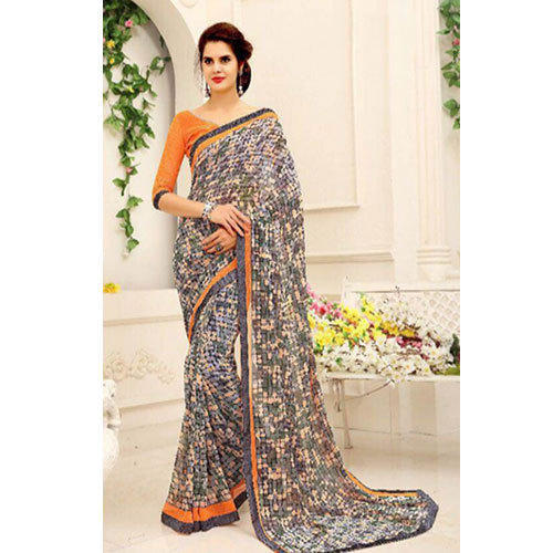 Multi-color Georgette Printed Sarees, With Blouse Piece, Rs 499 .