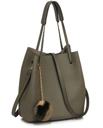 Hobo Bag Faux-Fur Charm For Girls 2019 (With images) | Hobo bag .