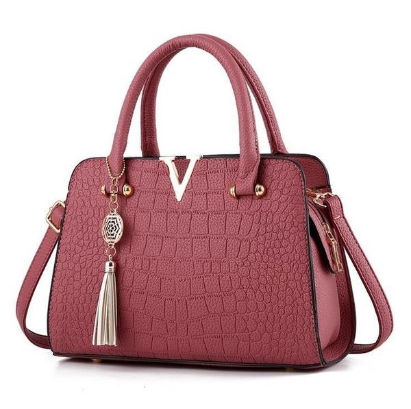 Fashion Crocodile Leather Women Bag Pendant Designer Girls .