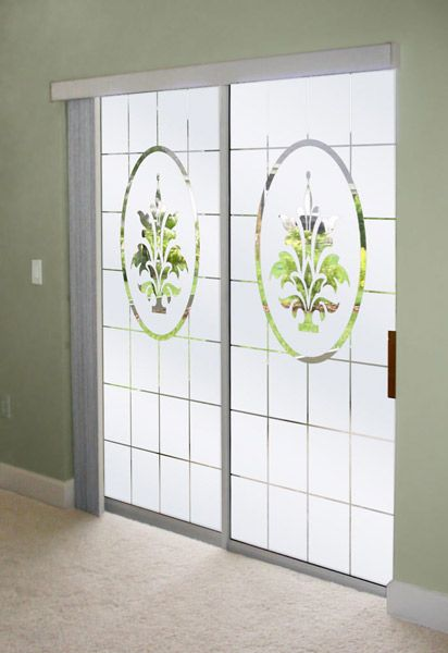 Decorate Sliding Glass Doors With Frosted Glass Designs (With .