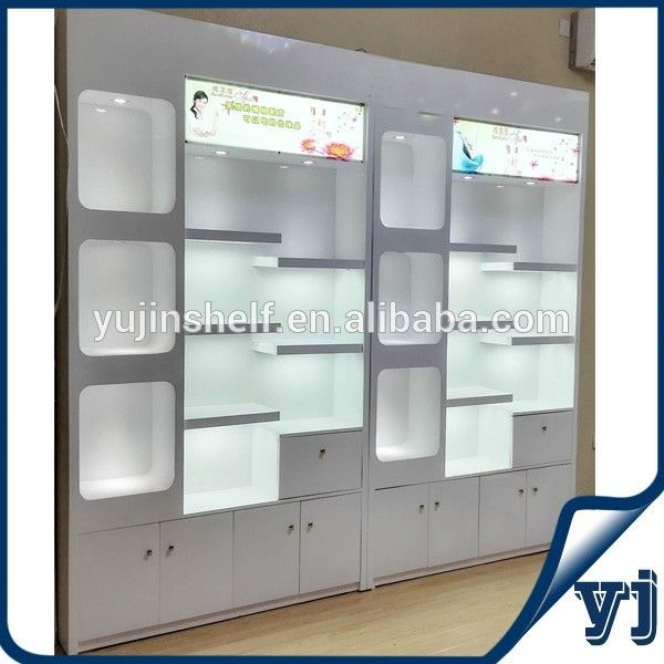 Shop Display Wooden Furniture Showcase Design / Wall Glass Display .