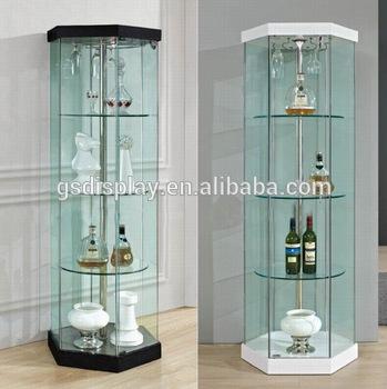 design glass showcase for home, View living room glass showcase .