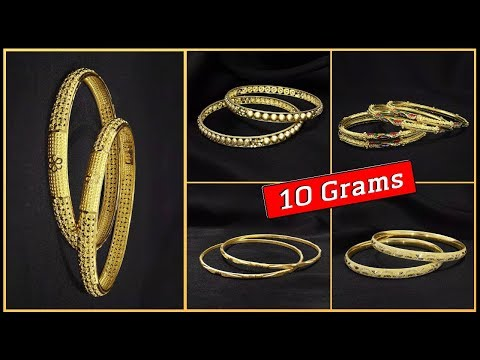 Latest Gold Bangles Designs in 10 Grams with Price (2019) - YouTu