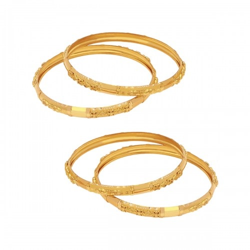 10 Latest Collection of Gold Bangles in 10 Grams | Styles At Li