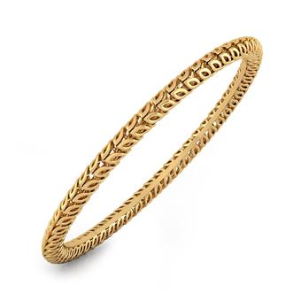 Leaflet Gold Bangle, 10 Grams Gold Bangles Onli