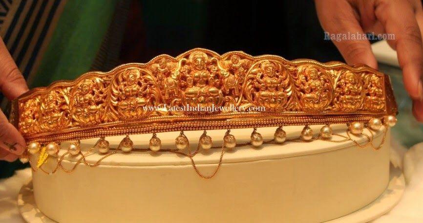 Latest 22k gold vaddanam or waist belt designs (With images .