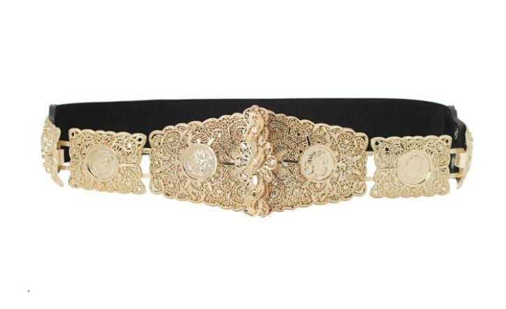 10 piece/lot) women gold metal belt hollow out detail lady's .