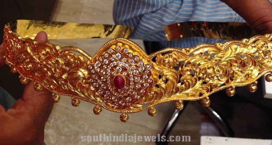 180 Grams Gold Bridal Waist Belt ~ South India Jewe
