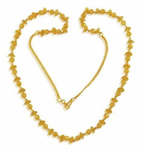 22k Designer Meenakari Gold Chain - AjCh59463 - 22Kt Yellow Gold .