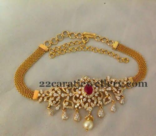 Gold Choker Necklace Designs