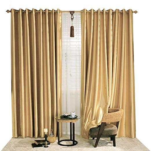Amazon.com: KoTing Blackout Golden Curtain Drape for Bedroom 1 .