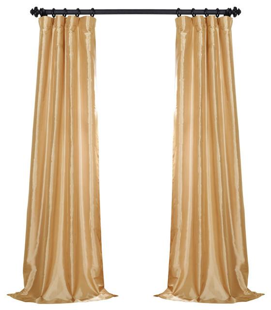 Soft Gold Faux Silk Taffeta Curtain - Contemporary - Curtains - by .