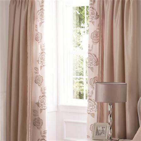 rose gold curtains | ... Lansfield Pair of Deco Rose 168x182cm .