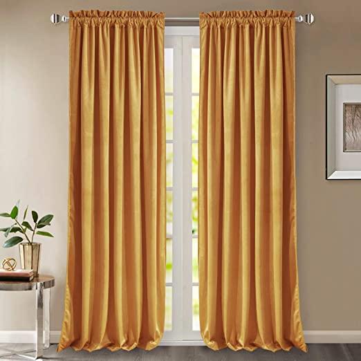 Amazon.com: StangH Velvet Curtains 96 Inches - Super Soft Velvet .